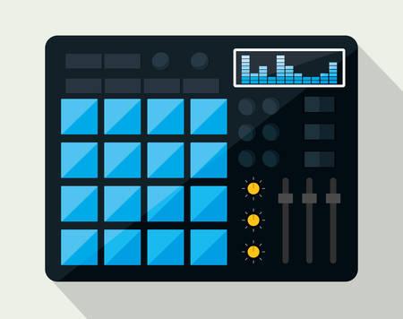 mixing board: Music technology equipment graphic design, vector illustration  Illustration