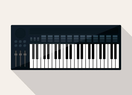 mixing board: Music technology equipment graphic design, vector illustration  Illustration