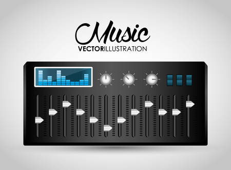 dj party: Music technology equipment graphic design, vector illustration  Illustration