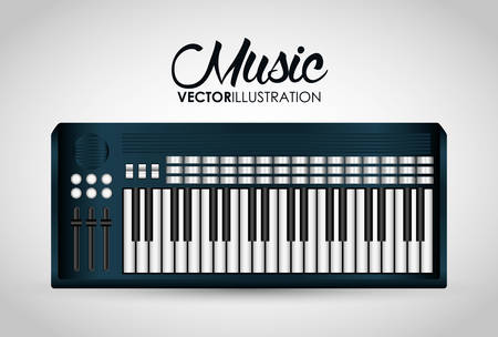 instrument panel: Music technology equipment graphic design, vector illustration  Illustration