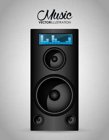 audio mixer: Music technology equipment graphic design, vector illustration  Illustration