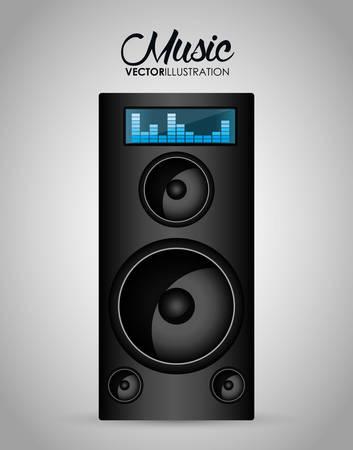 Music technology equipment graphic design, vector illustration  Illustration