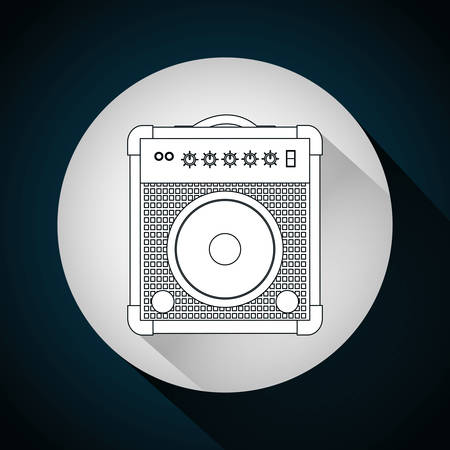 speaker icon: Music technology equipment graphic design, vector illustration Illustration