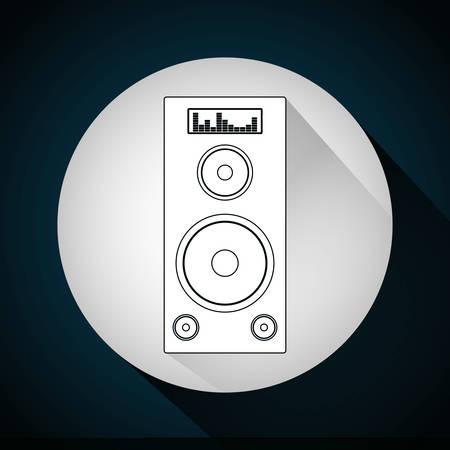 disco speaker: Music technology equipment graphic design, vector illustration Illustration