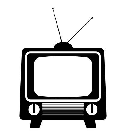 tv screen: Technology TV screen graphic icon design, vector illustration