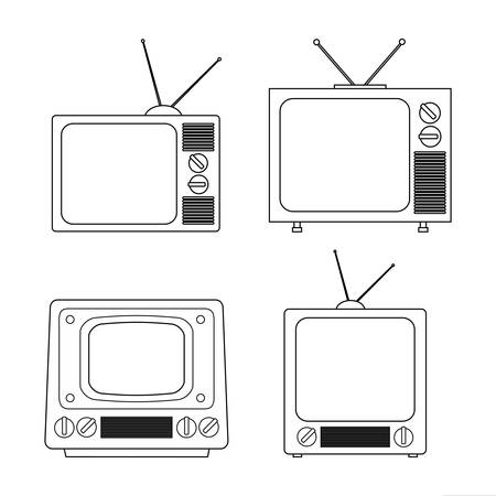 tv screen: Technology TV screen graphic icon design, vector illustration eps10