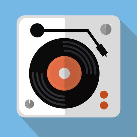 dj turntable: DJ electronic music party graphic design, vector illustration eps10