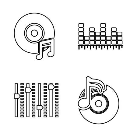 electronic music: DJ electronic music party graphic design, vector illustration eps10