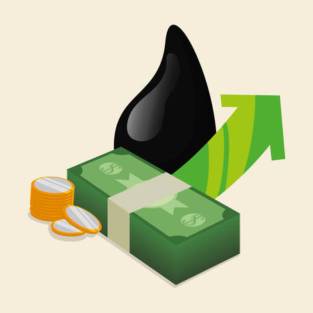 petrochemical: Petroleum concept with price icons design, vector illustration 10 eps graphic.