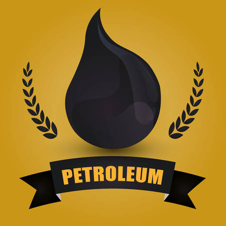 petrochemical plant: Petroleum concept with price icons design, vector illustration 10 eps graphic.