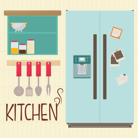 luxury homes: kitchen concept with house appliances icons design, vector illustration 10 eps graphic.