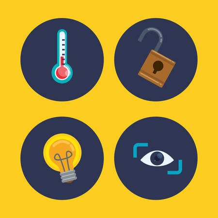 value system: Insurance concept with security sytem icons design, vector illustration 10 eps graphic. Illustration