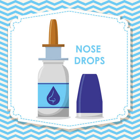 nose drops: Medical concept with healthy lifestyle icons  design, vector illustration 10 eps graphic. Illustration