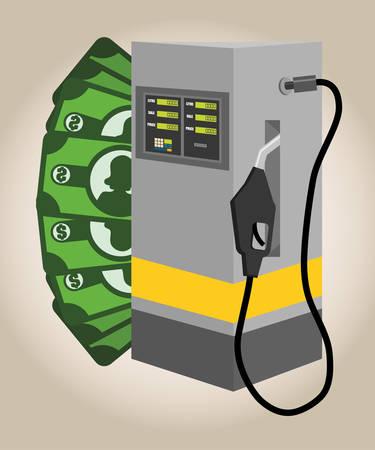 polluting: Petroleum concept with price icons design