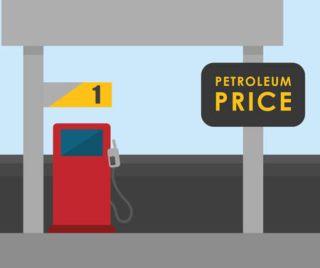 petrochemical plant: Petroleum concept with price icons design