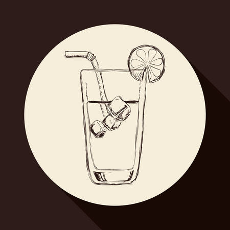 her: Cocktail concept with her own glass design Illustration
