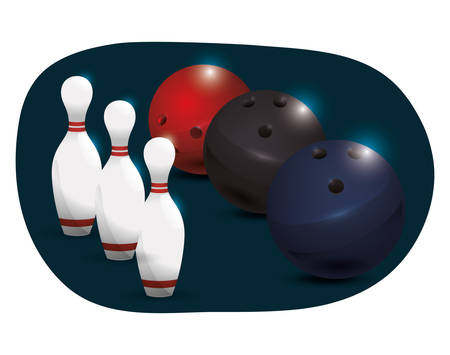 pursuit: Bowling  concept with sport icons design, vector illustration 10 eps graphic. Illustration