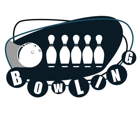 Bowling  concept with sport icons design, vector illustration 10 eps graphic. Illustration