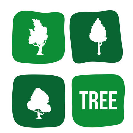 Tree concept with eco icons design, vector illustration 10 eps graphic.