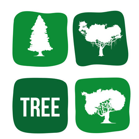 rural area: Tree concept with eco icons design, vector illustration 10 eps graphic.