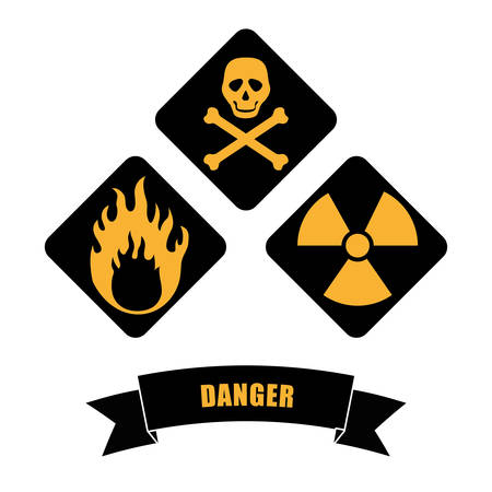 rebuilding: Under construction concept  with danger icons design, vector illustration 10 eps graphic.
