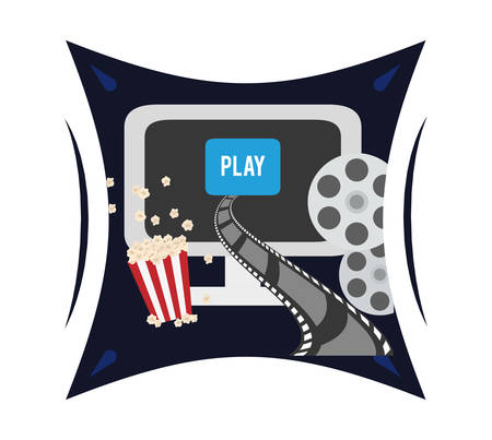 cinema strip: Cinema  concept  with movie icons design, vector illustration 10 eps graphic.