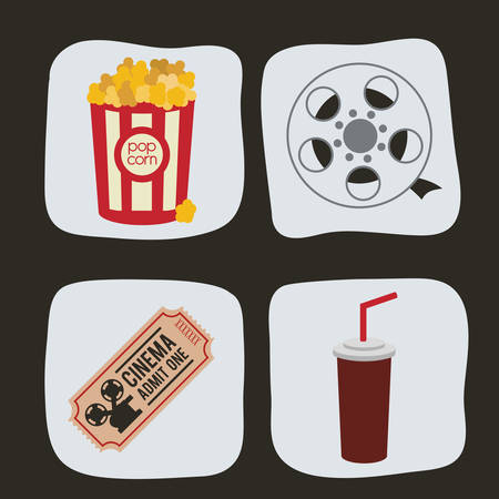 coke: Cinema  concept  with movie icons design, vector illustration 10 eps graphic.