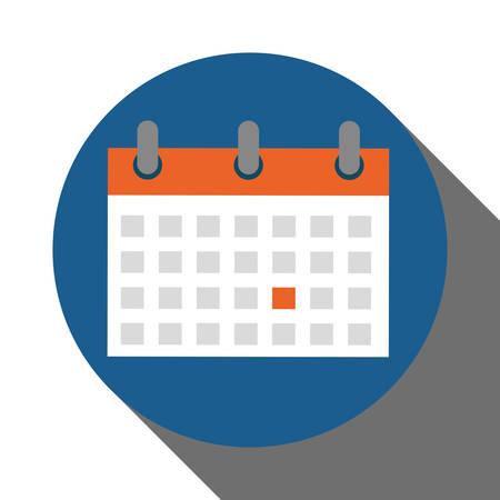 ring binder: Calendar concept  over circle design, vector illustration 10 eps graphic. Illustration