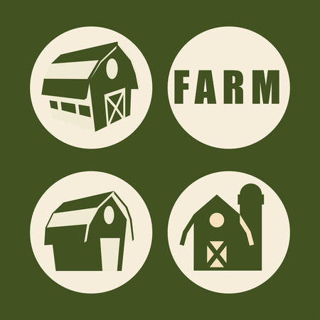 cultivating: Farm concept  with building icons design, vector illustration 10 eps graphic.