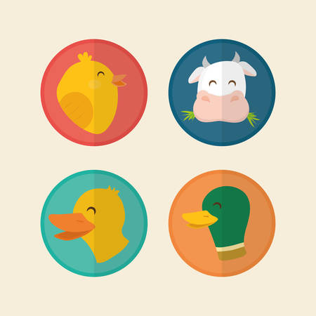cultivating: Farm concept  with animal icons design, vector illustration 10 eps graphic.
