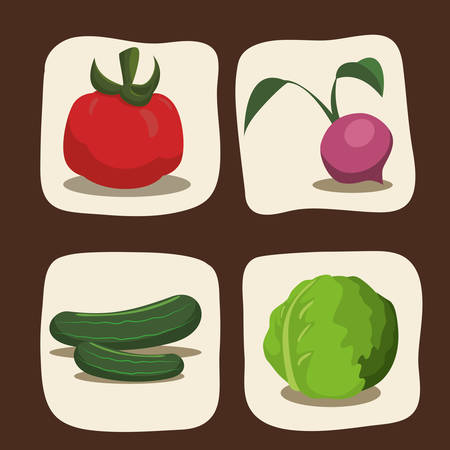 cultivated: Farm concept  with harvest icons design, vector illustration 10 eps graphic. Illustration