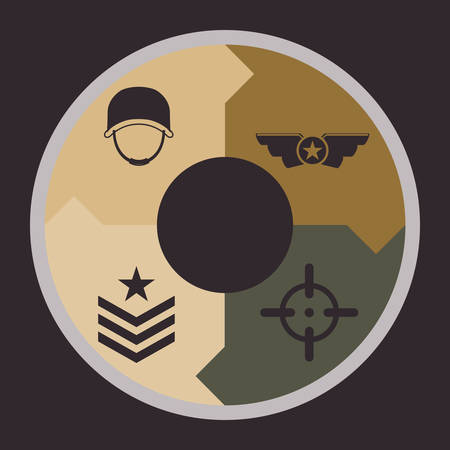 star Wars: Armed forces concept  with military icons design, vector illustration 10 eps graphic.