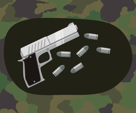 armed: Armed forces concept  with military icons design, vector illustration 10 eps graphic.