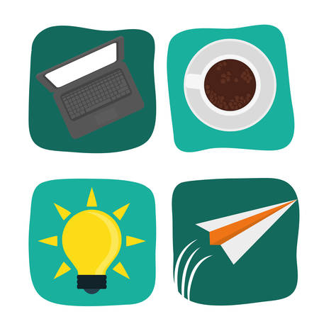 peper: Start up  concept  with icons design, vector illustration 10 eps graphic. Illustration