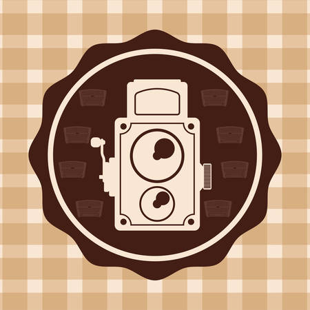 digicam: Retro concept with technology icons design, vector illustration  graphic. Illustration