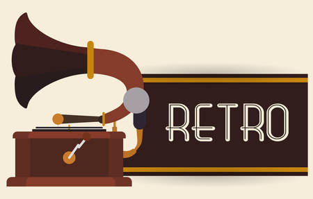 collectors: Retro concept with technology icons design, vector illustration   graphic.