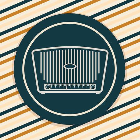 shortwave: Retro concept with technology icons design, vector illustration  graphic. Illustration