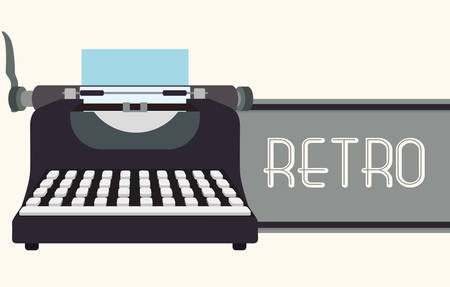 typewriting machine: Retro concept with technology icons design, vector illustration   graphic.