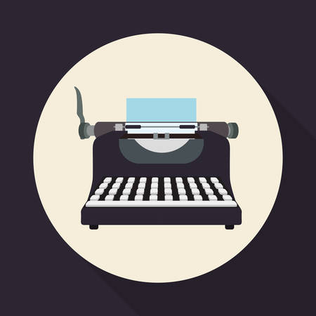 typewriting machine: Retro concept with technology icons design, vector illustration  graphic. Illustration