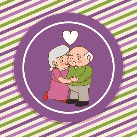 retired: Grandparents concept with family  icons design, vector illustration  graphic. Illustration