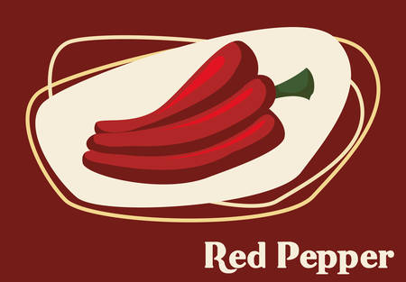 organic peppers sign: Healthy and organic concept with food icons design, vector illustration 10 eps graphic.