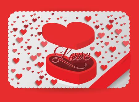 romantic: Love concept with romantic icons design