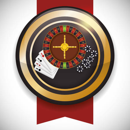 jack of clubs: Casino concept with las vegas icons design
