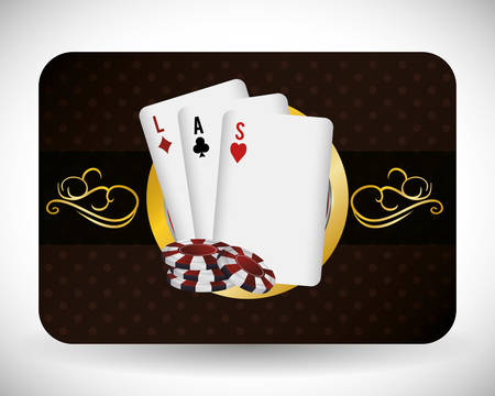 jack of clubs: Casino concept with las vegas icons design, vector illustration 10 eps graphic.