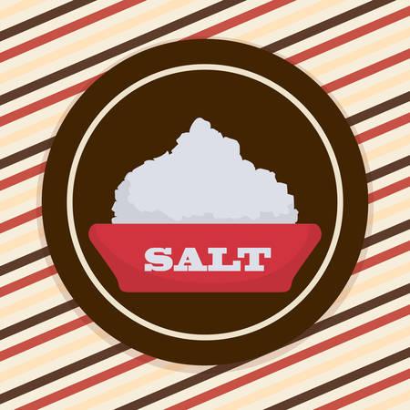 sal: concepto de la comida con el diseño de la sal Vectores