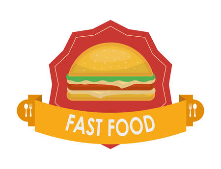 consume: Fast food concept with menu icons design Illustration