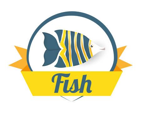 sea life  concept with fish design
