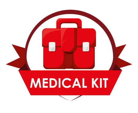 care: Medical care concept with medicine icons design Illustration