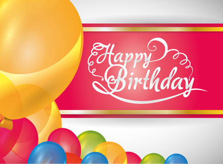 advertising signs: Happy Birthday  concept with party icons design