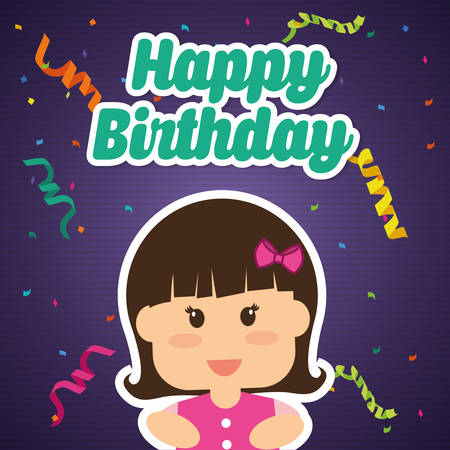 birthday party: Happy Birthday  concept with party icons design